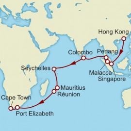 Hong Kong to Cape Town World Sector Itinerary