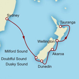 Sydney to Tauranga World Sector Cunard Cruise