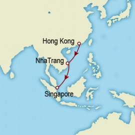 Hong Kong to Singapore World Sector Cunard Cruise