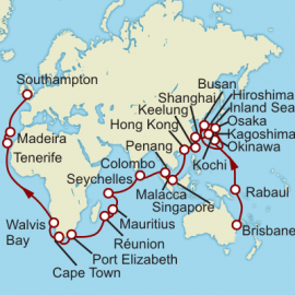 Brisbane to Southampton World Sector