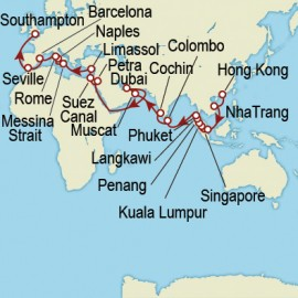 Hong Kong to Southampton World Sector