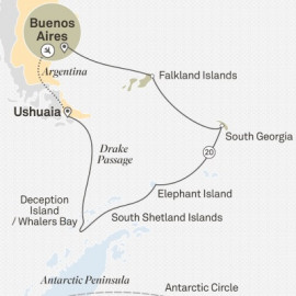 Antarctica and South Georgia and Falkland Islands Itinerary