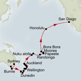 Australia and New Zealand and South Pacific Collector  Holland America Line Cruise