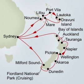 Pacific Treasures and New Zealand Discovery Collector Cruise