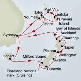 Pacific Treasures and New Zealand Discovery Collector Itinerary
