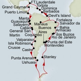 Grand South America and Antarctica Voyage Itinerary