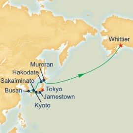 Japan and North Pacific Crossing Itinerary