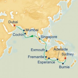 World Cruise Segment Australia and Asia Itinerary