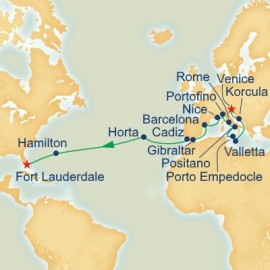 World Cruise Segment Mediterranean and Atlantic Passage Princess Cruises Cruise
