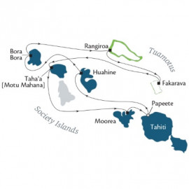 Tuamotus and Society Islands Fly Itinerary