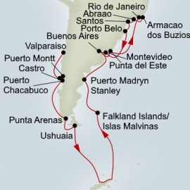 Antarctica and Brazil Explorer Holland America Line Cruise