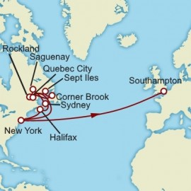 Transatlantic New England and Canada Cunard Cruise