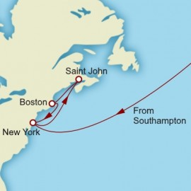 Transatlantic Canada and New England Cunard Cruise