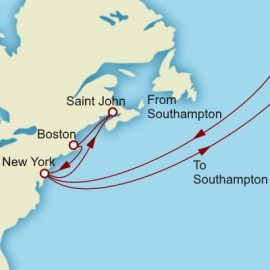 Grand Transatlantic Canada and New England Cunard Cruise