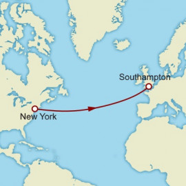 Eastbound Transatlantic Crossing Itinerary