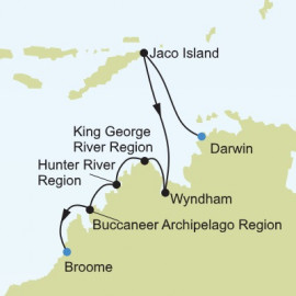 Darwin to Broome Silversea Cruises Cruise