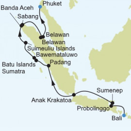 Benoa to Phuket Itinerary