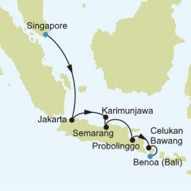 Singapore to Benoa Itinerary
