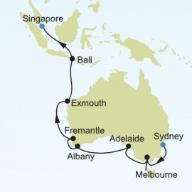Sydney to Singapore Silversea Cruises Cruise