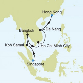 Singapore to Hong Kong Silversea Cruises Cruise