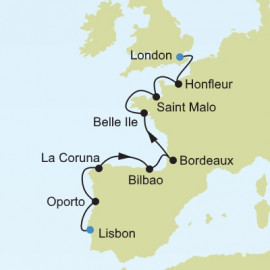 Western Europe and British Isles Itinerary