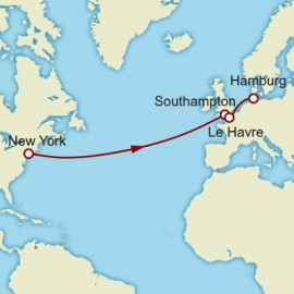 Eastbound Transatlantic Crossing Cunard Cruise