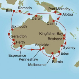 Southern Cross Explorer Itinerary