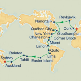 World Cruise Southampton to Sydney Sector Itinerary