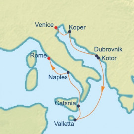 Adriatic and Italy Itinerary