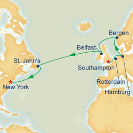 Norway and Atlantic Passage Itinerary