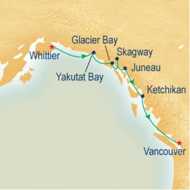 Voyage of the Glaciers Southbound Itinerary