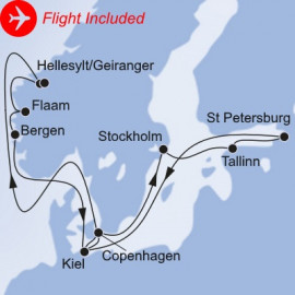 Grand Northern Europe Fly Itinerary
