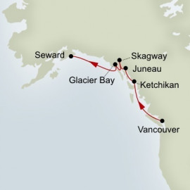 Glacier Discovery Northbound Holland America Line Cruise