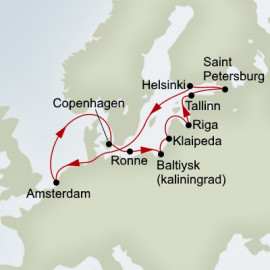 Kiel Canal and Baltic Explorer Holland America Line Cruise
