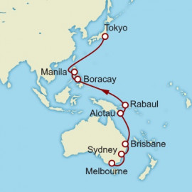 Melbourne to Yokohama Cunard Cruise