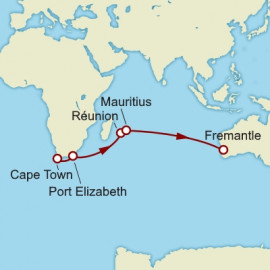 Cape Town to Fremantle World Sector Cunard Cruise
