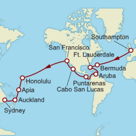 Southampton To Sydney World Sector Itinerary