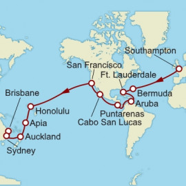 Southampton To Brisbane World Sector  Itinerary