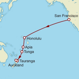 San Francisco To Auckland World Sector Cunard Cruise