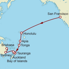 San Francisco To Brisbane World Sector  Cunard Cruise