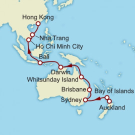 Auckland To Hong Kong World Sector  Cunard Cruise