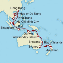 Auckland To Singapore World Sector Itinerary