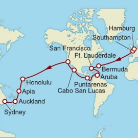 Hamburg to Sydney World Sector  Itinerary