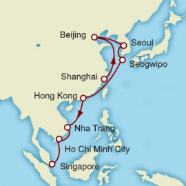 Shanghai to Singapore World Sector Itinerary