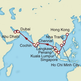 Hong Kong to Dubai World Sector Cunard Cruise