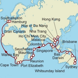Sydney to Hamburg World Sector Cunard Cruise