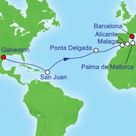 Galveston to Spain Itinerary