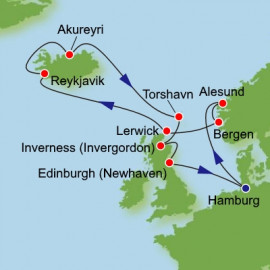 Norway and Iceland and UK  Itinerary