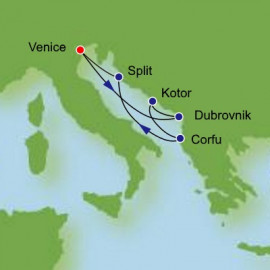 Adriatic and Greece  Itinerary