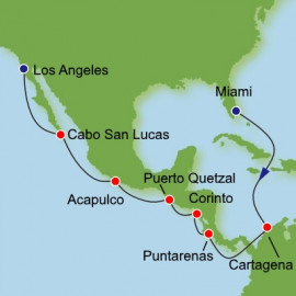 Panama Canal Miami to Los Angeles Itinerary